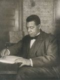 Booker T Washington American Educator Born a Slave Photographic Print by Underwood &amp; Underwood 