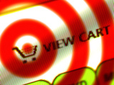 Internet Shopping Cart Symbol on Top of a Target Photographic Print