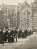 Procession of Judges at Westminster Abbey a Custom Before the Opening of the Law Courts Photographic Print