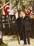Kemel Ataturk Introduces Language Reform Photographic Print