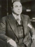 Alphonse &quot;Scarface&quot; Capone Chicago Gangster Fotografie-Druck