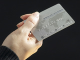 Hand Holding Credit Card Photographic Print