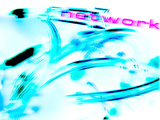 "The Word ""Network"" with Blurred Fiber Optic Cables Photographic Print"