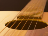 Wooden Guitar Photographic Print