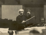 Arturo Toscanini Italian Conductor Known for His Dynamic Style Conducting in 1936 Photographie