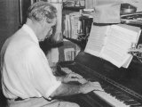 Albert Schweitzer French Theologian Philosopher Missionary Physician and Music Scholar Playing Bach, Photographic Print