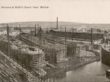 The South Yard of Harland and Wolff's Shipyards Belfast Reproduction photographique