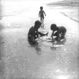 Children by the Sea Photographic Print