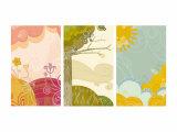 Retro Landscapes Triptych Posters