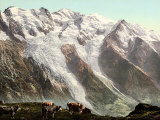 View of Mont Blanc from Planpraz, Near Chamonix Photographic Print