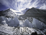 Seracsin Front of Mount Everest Posters by Michael Brown