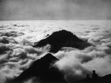 The Peaks of the Southern Grigna Emerge from a Sea of Fog, Lecco Photographic Print