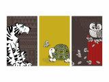 Retro Animals Triptych Foto