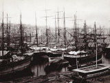 The Mercantile Port of Naples with Various Vessels at Anchor Photographic Print