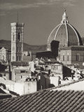 Panorama of Florence with the Belltower of Giotto and the Dome of the Cathedral Reproduction photographique