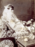 Portrait of a Turkish Woman in a Harem, in Cairo Photographic Print