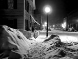 Snowy Night, Woodstock, Vermont, 1940 Prints by Marion Post Wolcott