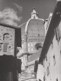 Dome of the Cathedral of Santa Maria Del Fiore, Florence Fotografisk tryk af Brunelleschi, Filippo