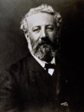 Half-Length Portrait of the Famous French Novelist Jules Verne Photographic Print