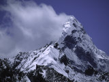 Snow Plumes from the Top of Mount Amadablam, Nepal Prints by Michael Brown