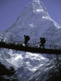 Bridge in Ama Dablam, Nepal Print by Michael Brown