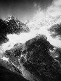 View of the Giordani Peaks and Parrotspitze in the Piemonte Alps Photographic Print