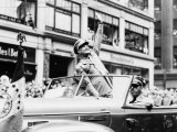 General Dwight D. Eisenhower in Parade, 1945 Foto af Fred Palumbo