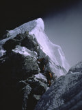 The Hillary Step at Dusk, Nepal Print by Michael Brown
