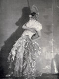 A Dancer in Extravagant Spanish Style Stage Costume Photographic Print