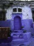 Blue House in Morocco Prints by Michael Brown