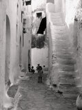 Kids in a Street of Sperlonga Photographic Print