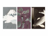 Symbols of Japan Triptych Photo