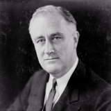 Franklin Delano Roosevelt, circa 1933 Photo af Elias Goldensky