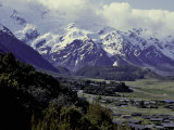 Overlooking Mountain Village, New Zealand Prints by Michael Brown