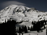 Snowy Mt. Rainer, Washington, USA Print by Michael Brown