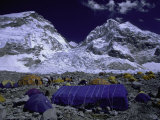 Base Camp at Lhotse, Southside of Everest, Nepal Photographic Print by Michael Brown
