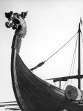 The Figurehead of the Viking Longship &quot;Hugin&quot; at Pegwell Bay Kent England Fotografie-Druck