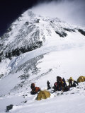 Tents on Southside of Everest, Nepal Photographic Print by Michael Brown