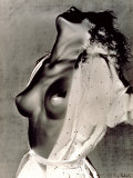 Portrait of a Young Woman with Bare Breasts Photographic Print