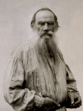 Half-Length Portrait of the Famous Russian Author Lev Nikolaevic Tolstoj Photographic Print