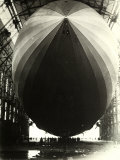 The Dirigible 'Zeppelin L.Z.129' Seen from the Inside of Its Hangar Impresso fotogrfica