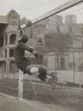 Goalie of the Genova Soccer Team During a Play Fotografie-Druck