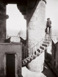 Staircase of the Tower of Palazzo Vecchio in Florence. in the Background the Dome of the Cathedral Photographic Print