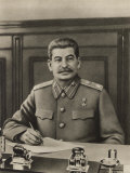 Stalin at His Desk Photographic Print