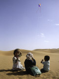 Children with Kite, Morocco Photographic Print by Michael Brown