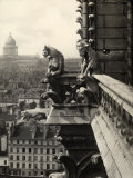 Detail of the Terrace of a Tower with Depictions of Monsters and Fantastic Animals Fotografie-Druck