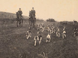 Fox Hunting in the Roman Countryside Photographic Print
