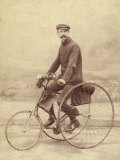 French Gentleman on His Tricycle Photographic Print