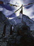 Puja Ceremony at Everest Base Camp Poster by Michael Brown