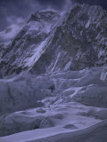 Khumbu Ice Fall and Everest Landscape, Nepal Poster by Michael Brown